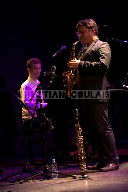 Pierre de Bethmann, Baptiste Herbin; Baptiste Herbin Quartet feat André Ceccarelli, Festival JAZZ360 2014, Cénac. 07/06/2014