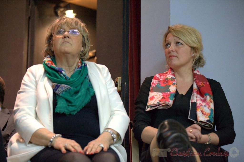 """Martine Jardiné. Meeting """"Majorité départementale"""" aux élections départementales de la Gironde, Blasimon, 9 mars 2015"""
