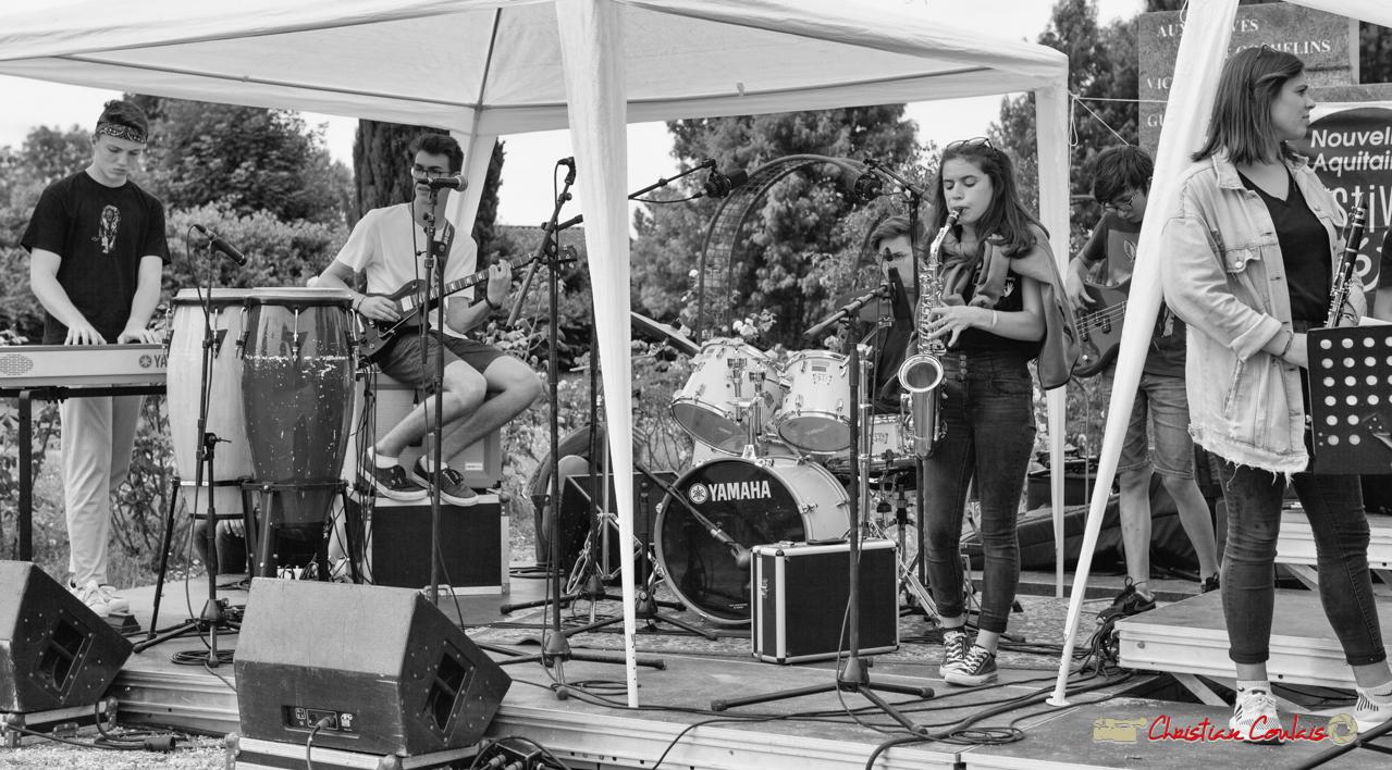 Solo de saxophone. Big Band Jazz du collège Eléonore de Provence (Monségur) conduit par Rémi Poymiro. Festival JAZZ360 2018, Cénac. 08/06/2018