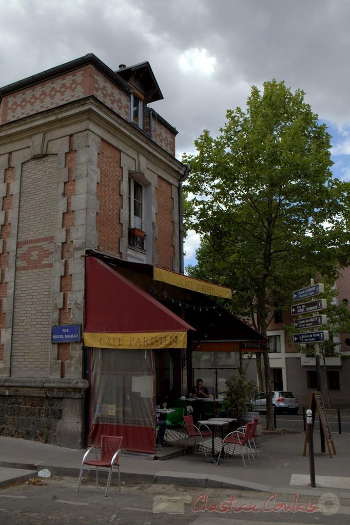 Café parisien, 2 Place de Rhin et Danube, Paris 19ème