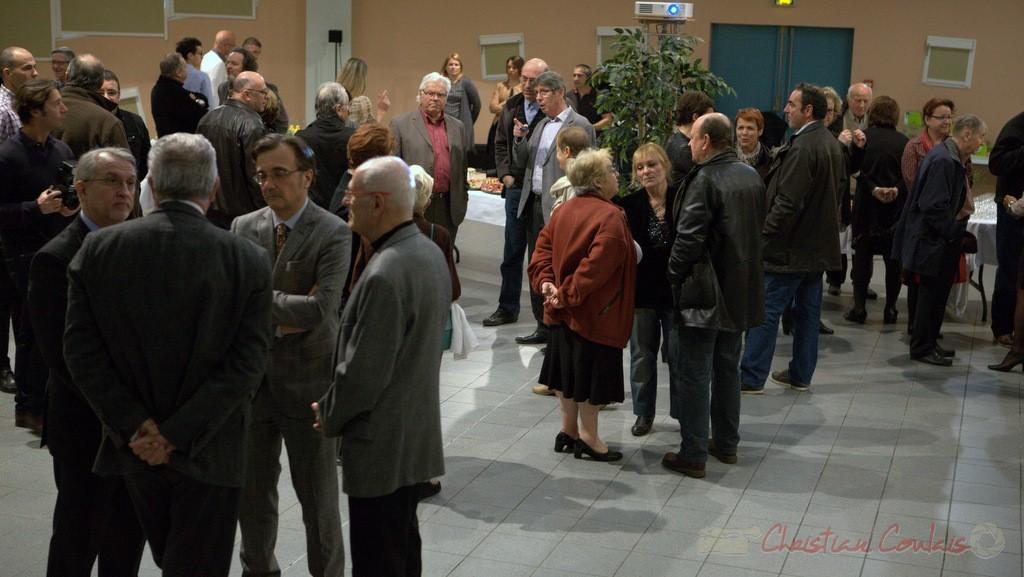 Réunion pour l'honorariat de Simone Ferrer et Gérard Pointet, anciens Maires de Cénac, vendredi 3 avril 2015