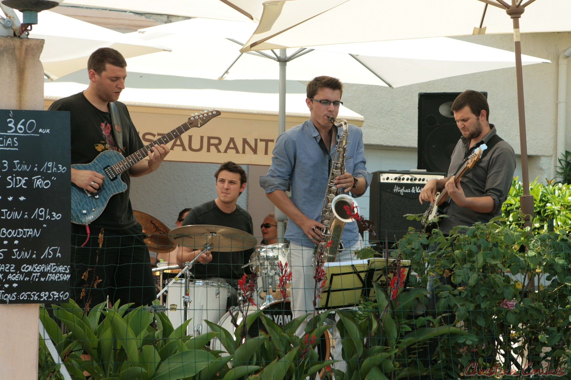 Festival JAZZ360 2011, Souper Jazz au restaurant les Acacias, Ateliers des Conservatoires d'Agen et Bordeaux, Cénac