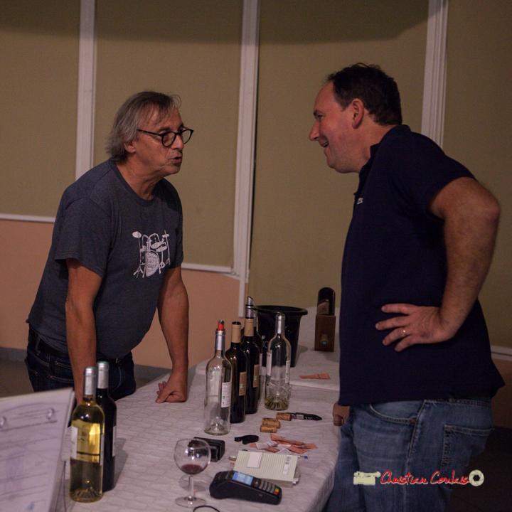 Richard Raducanu, Président de JAZZ360 et Guillaume Moreau, Château Farizeau. Soirée club JAZZ360, Cénac. 05/10/2019