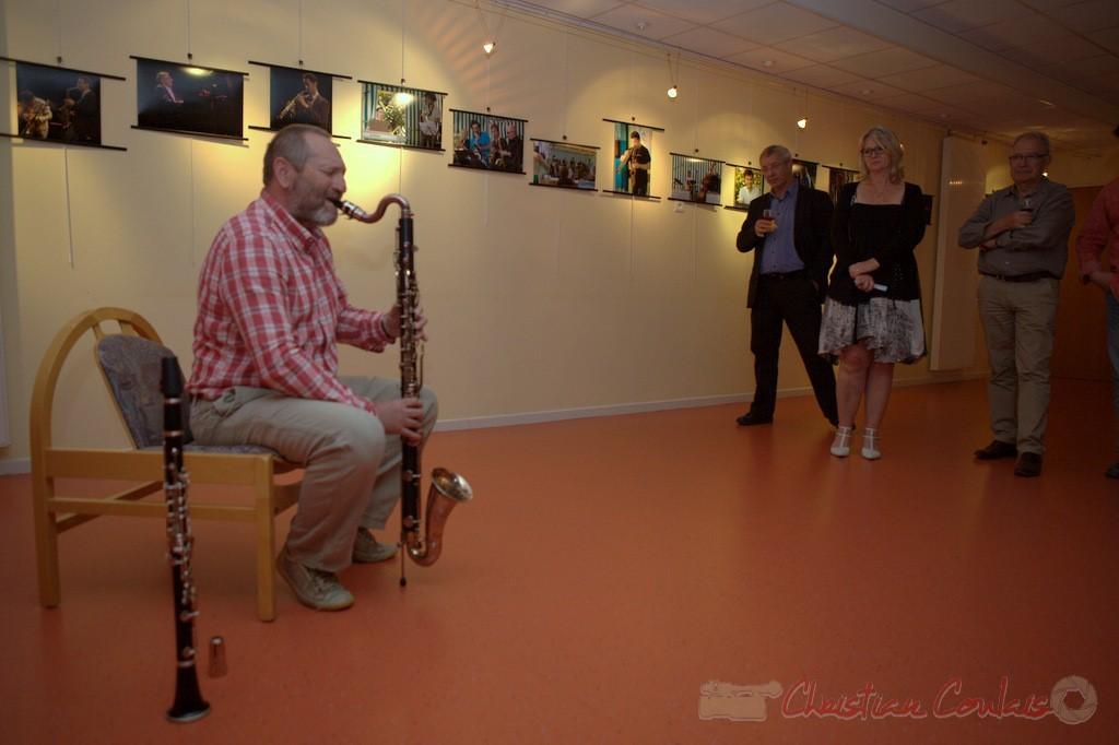 Francis Henry, clarinette basse. Festival JAZZ360 2015, médiathèque de Latresne. 28/05/2015
