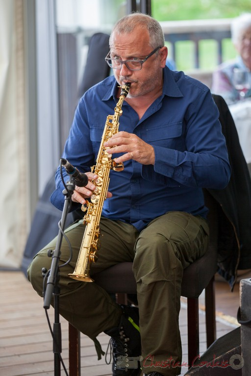 François Corneloup / Peuple étincelle. Festival JAZZ360 2015, Camblanes-et-Meynac