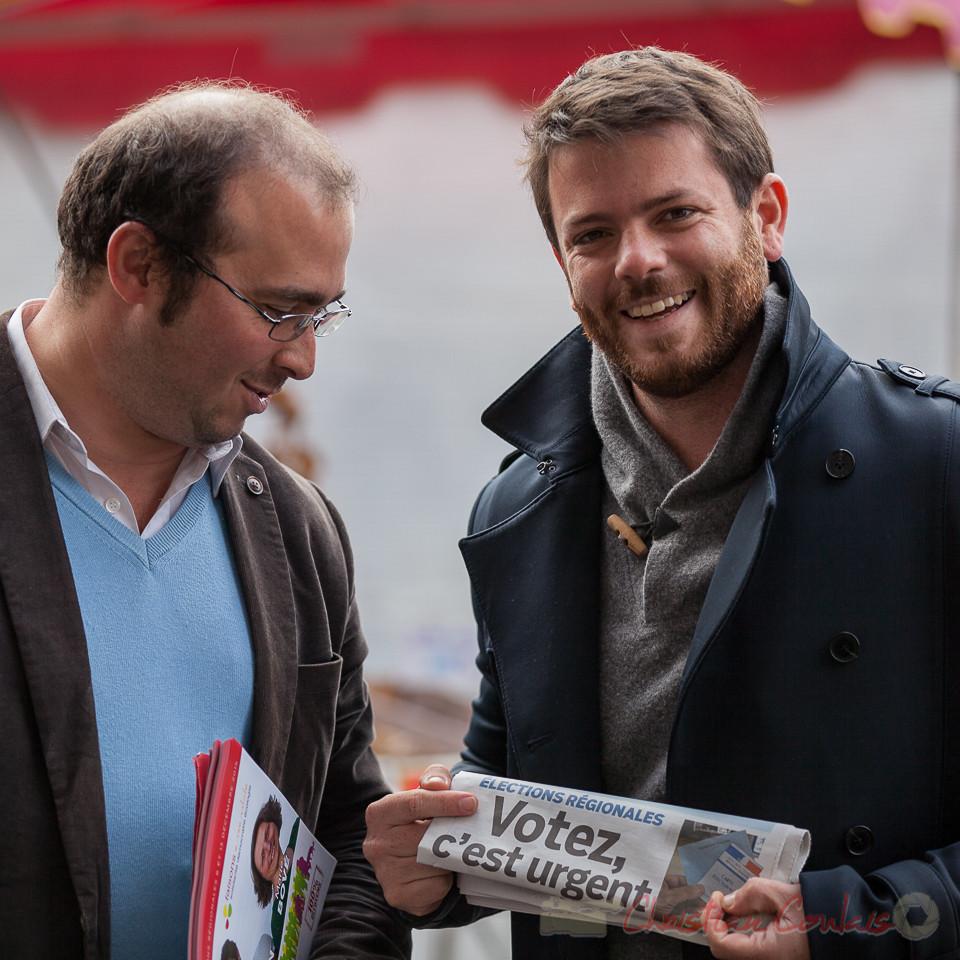 """Christophe Miqueu, Joseph Boussion, tête de liste régionale """"faisons ensemble"""", La vague citoyenne, Bordeaux, Gironde"""
