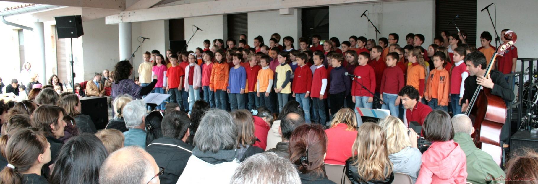 Festival JAZZ360 2010, Chorale jazz des écoles de la Communauté de Communes des Portes de l'Entre-Deux-Mers, Cénac