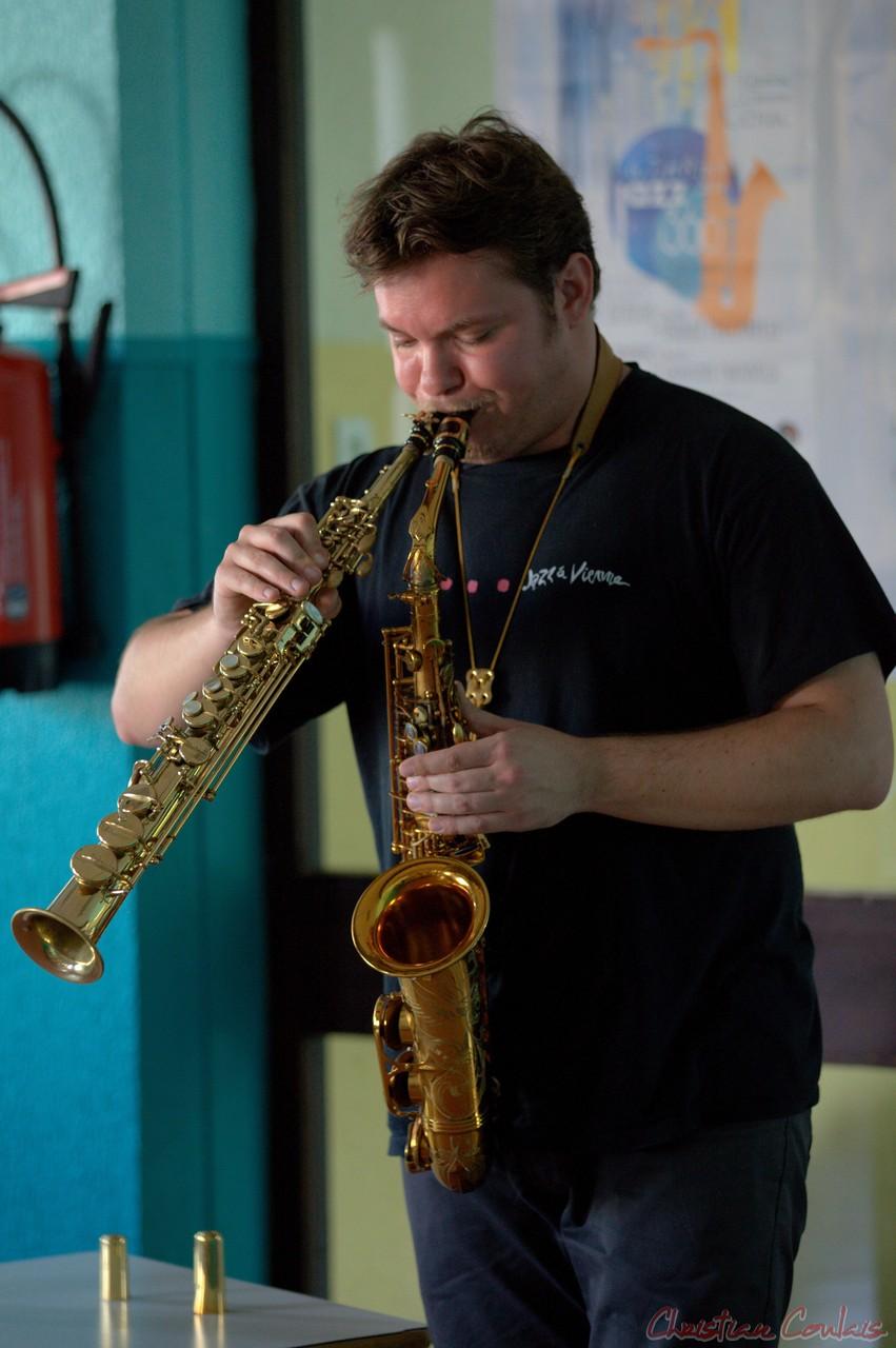 Festival JAZZ360 2014, rencontre musicale avec Baptiste Herbin, Cénac