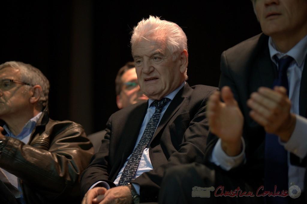 """Philippe Madrelle. Meeting """"Majorité départementale"""" aux élections départementales de la Gironde, Blasimon, 9 mars 2015"""