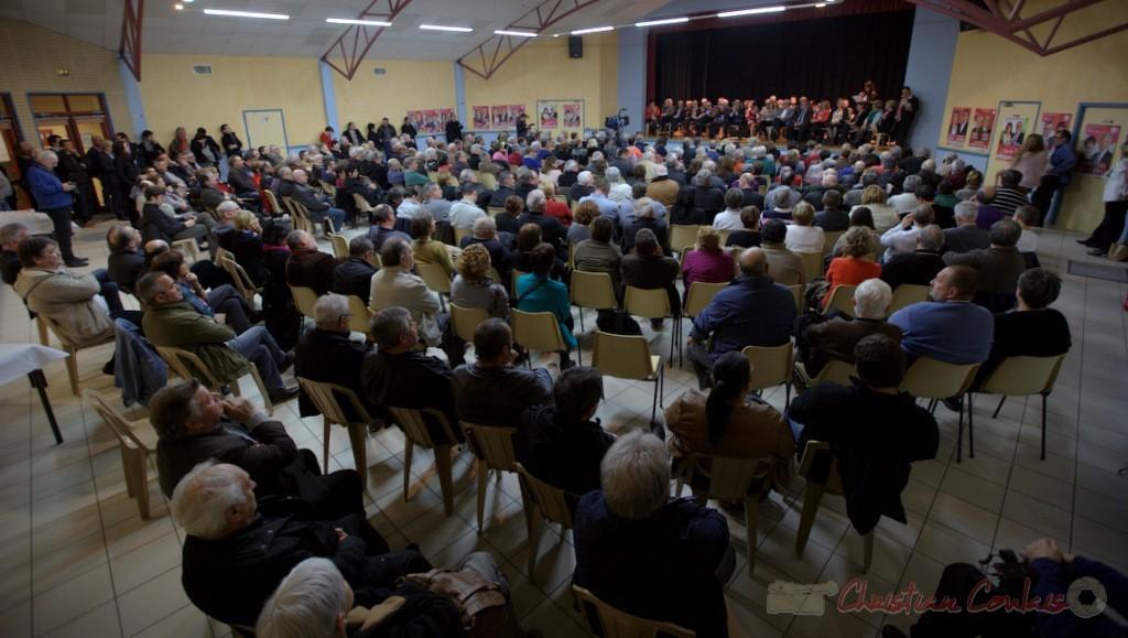 """Meeting des candidats """"Majorité départementale"""" aux élections départementales de la Gironde, Blasimon, 9 mars 2015"""