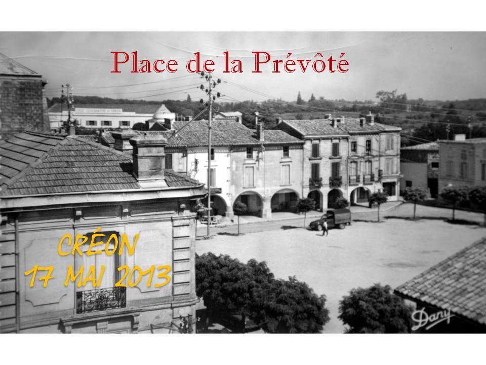 Place de la Prévôté, Créon. Collection Jean Marie-Darmian