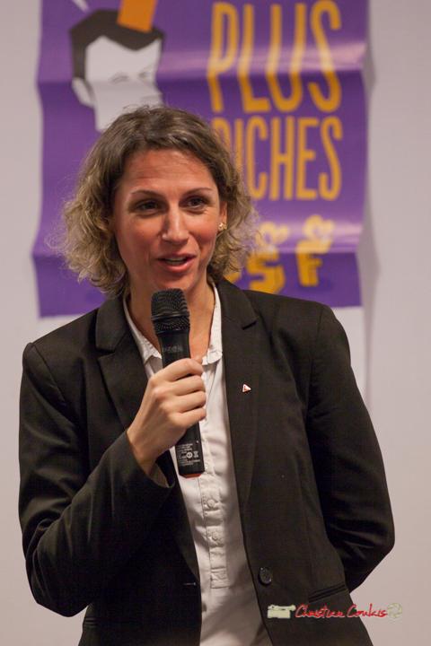 1/6 Marie Duret-Pujol, candidate aux élections européennes 2019. Comité d'appui la France insoumise aux élections européennes, Bordeaux. 22/11/2018