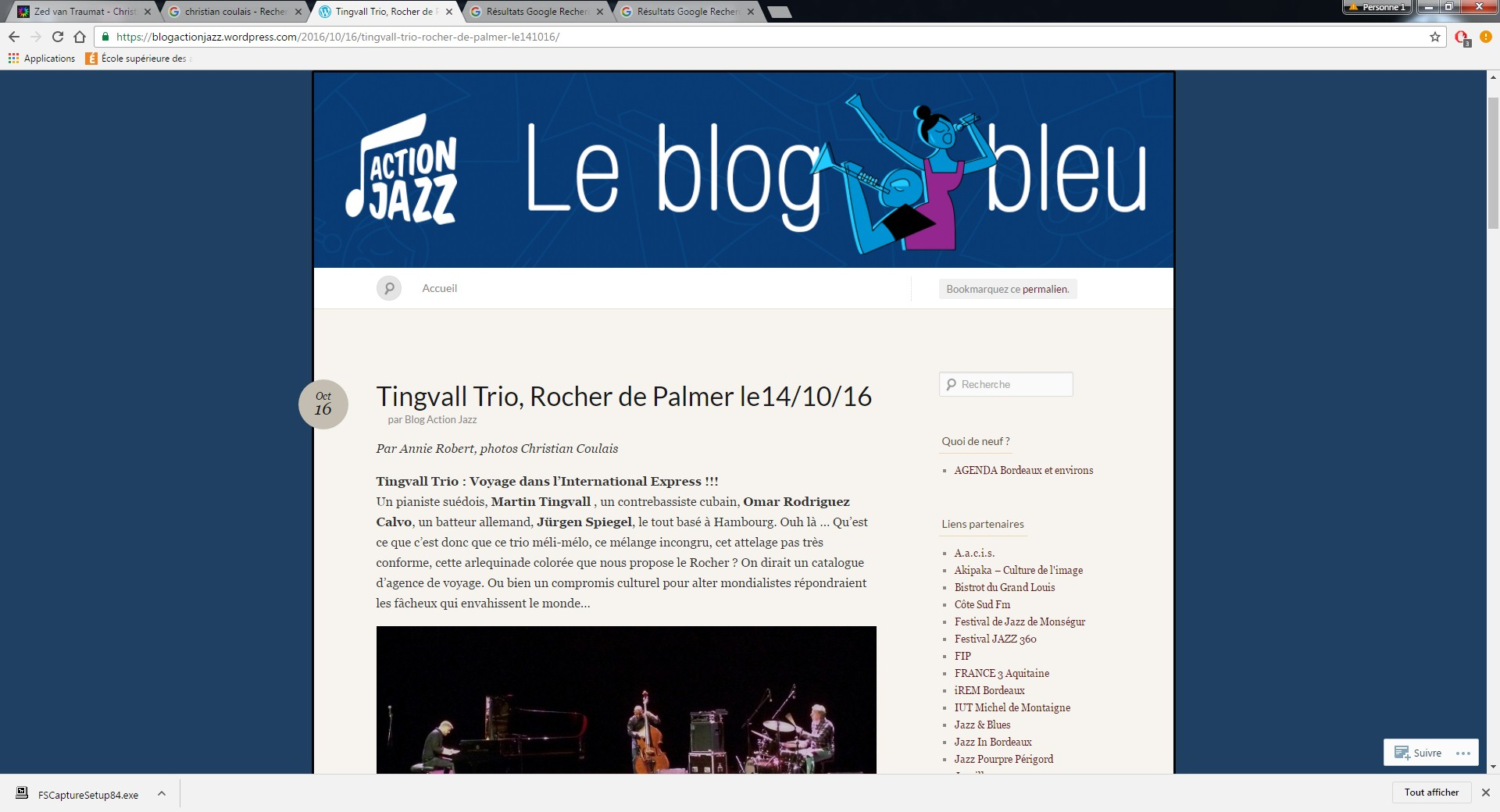 Tingvall Trio, Action Jazz, 14 octobre 2016