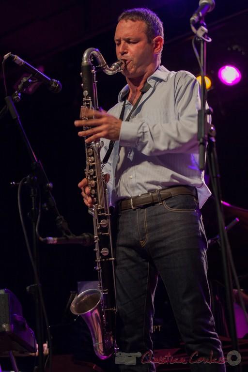 Thomas Savy et sa clarinette basse. Festival JAZZ360 2015, Cénac