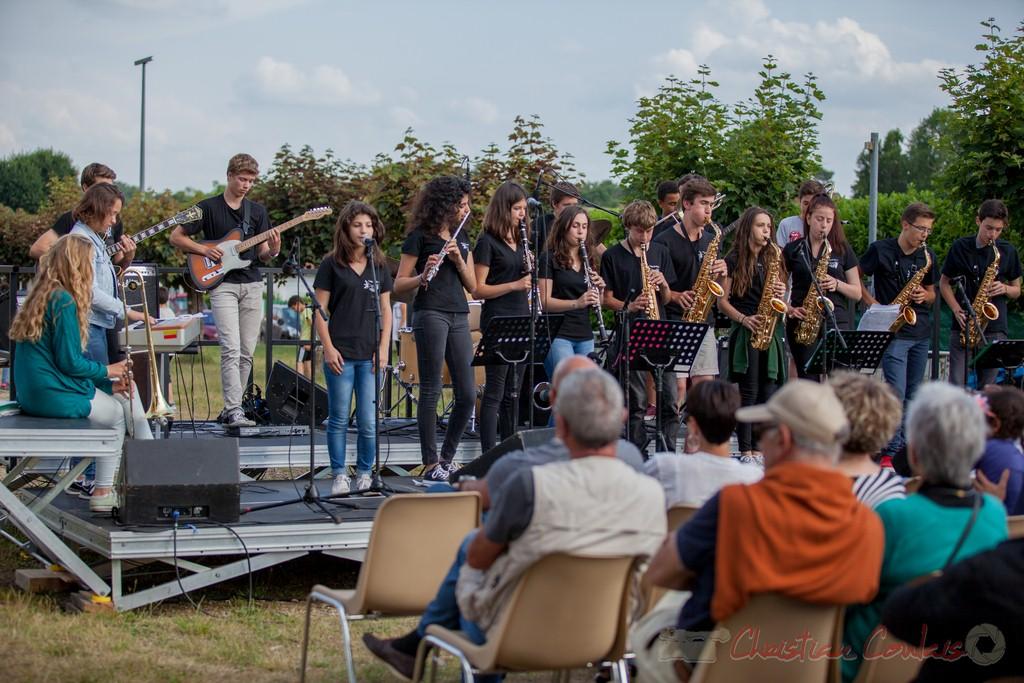 Big band du Collège Eléonore de Provence (Monségur). Festival JAZZ360 2015, Cénac