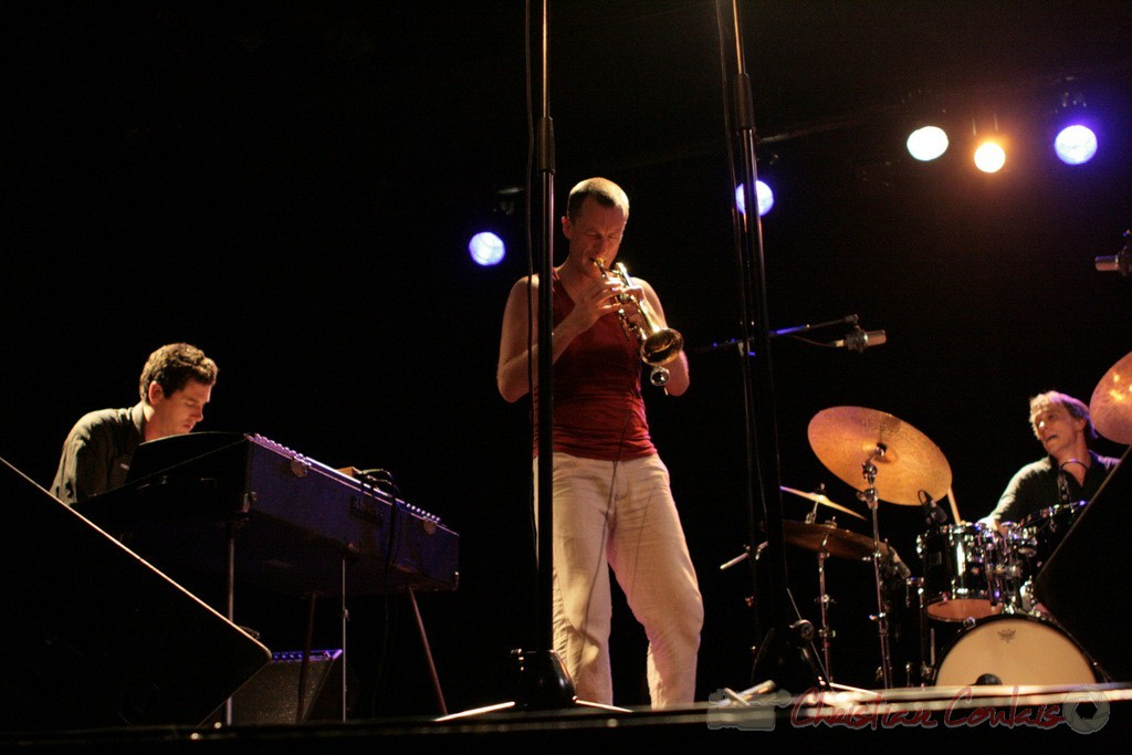 "Franck Woeste; Médéric Collignon, Philippe Gleizes; Médéric Collignon ""Jus de Bocse"". Festival JAZZ360 2011, Cénac. 04/06/2011"