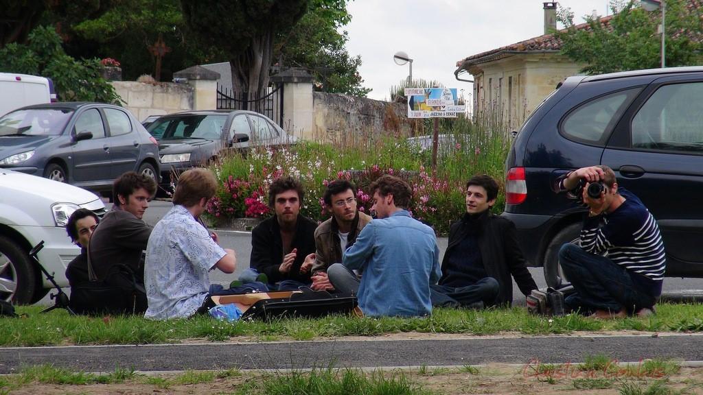 Atelier Jazz du Conservatoire d'Agen, Place du bourg, Cénac. Festival JAZZ360 2013. Samedi 8 juin 2013.
