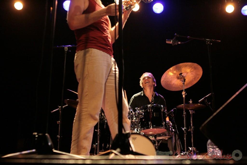 """Médéric Collignon, Philippe Gleizes; Médéric Collignon """"Jus de Bocse"""". Festival JAZZ360 2011, Cénac. 04/06/2011"""