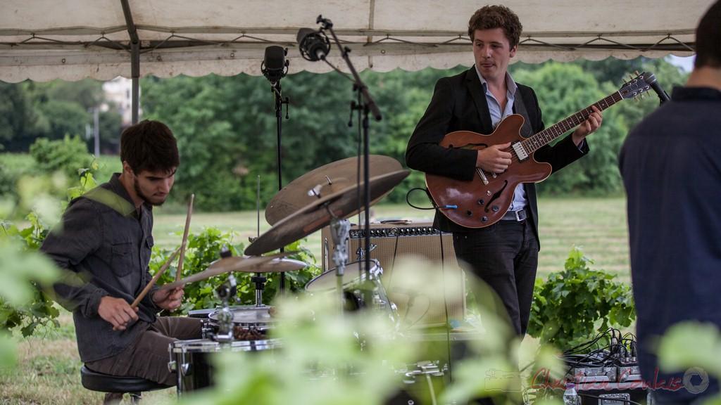 Tom Peyron, Thomas Boudé, Isotope Trio. Festival JAZZ360 2015, Quinsac