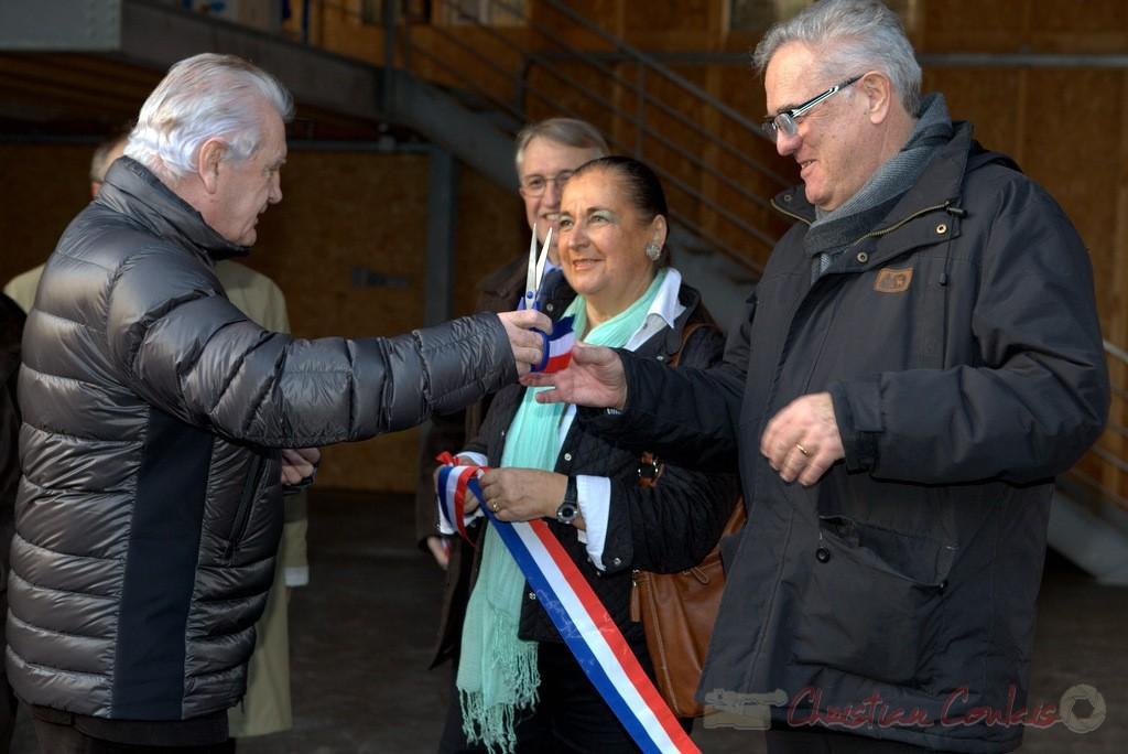 Philippe Madrelle, Martine Faure, Jean-Marie Darmian, Inauguration de la station d'épuration, 9juin 2012, Cambes
