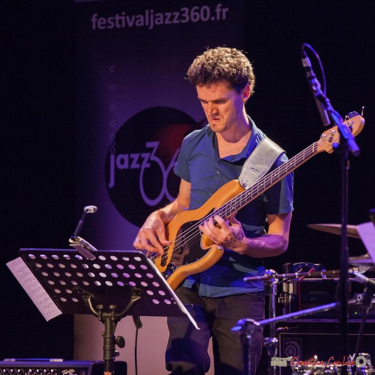 10/06/2016. Ouriel Ellert, basse, le JarDin Quartet. Festival JAZZ360