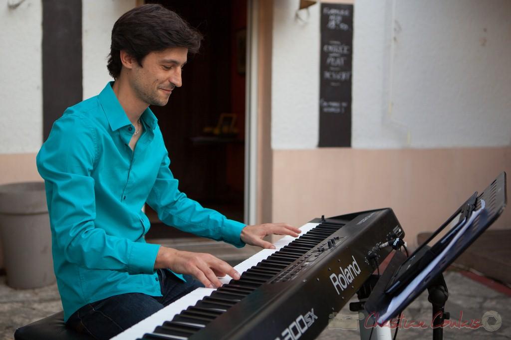 Phil Gueguen, souper Jazz au Restaurant les Acacias. Festival JAZZ360 2015, Cénac