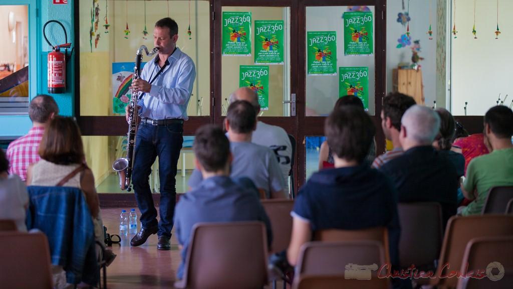Conférence jouée par Thomas Savy. Festival JAZZ360 2015, Cénac
