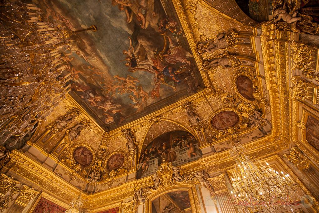 Plafond, la Sagesse et la Force, Charles-Raphaël Maréchal dit Maréchal fils et Louis-Jean-Noël Duveau, Appartements de Napoléon III, Musée du Louvre
