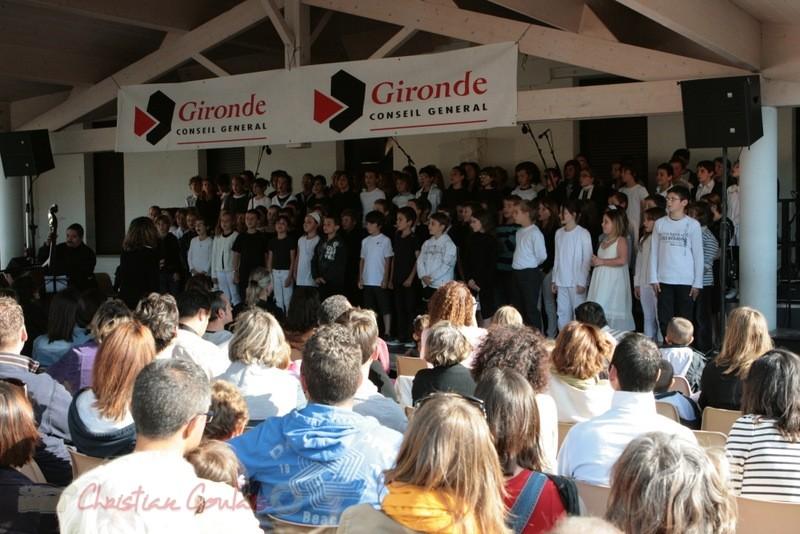 JazzEcole avec les classes de Quinsac, Sadirac, Lorient, Cénac. Festival JAZZ360, groupe scolaire de Cénac. 01/06/2011