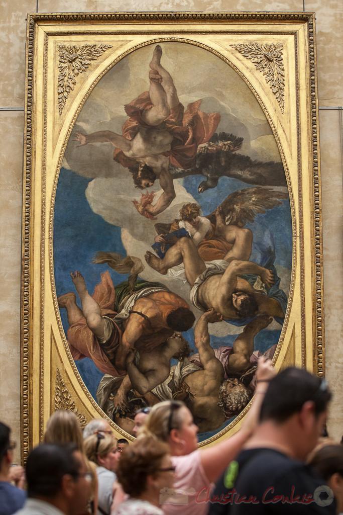Jupiter punissant les vices, Paolo Caliari, dit Véronèse, Salle de la Joconde, Musée du Louvre