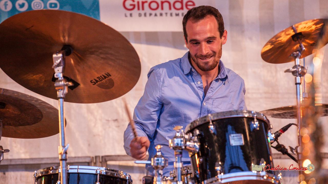 Solo de batterie de Félix Joveniaux; Adrien Brandéis Quintet. Festival JAZZ360 2019, Langoiran. 06/06/2019