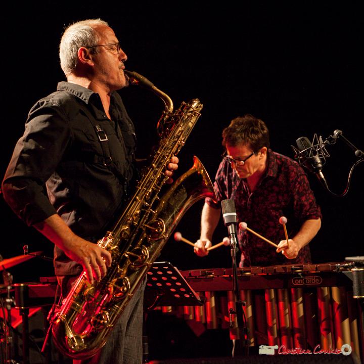 François Corneloup (saxophone baryton) / Franc Tortiller (vibraphone, marimba) Duo. Festival JAZZ360, Cénac, 10 juin 2017