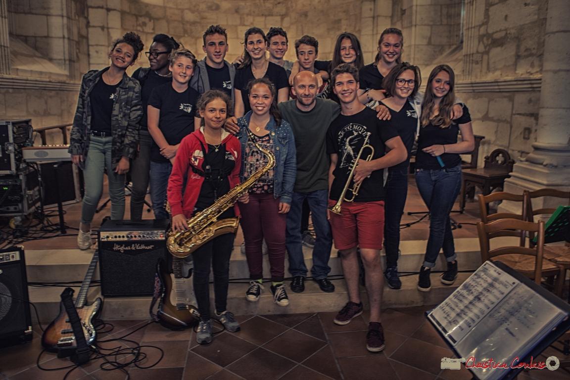 10/06/2016. Big Band Jazz du Collège Eléonore de Provence de Monségur, église de Cénac. Festival JAZZ360