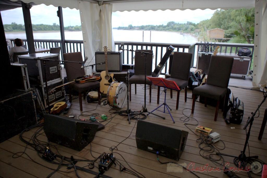 Festival JAZZ360 2015, installation instrumentale à la Maison du Fleuve, Camblanes-et-Meynac. 13 juin 2015