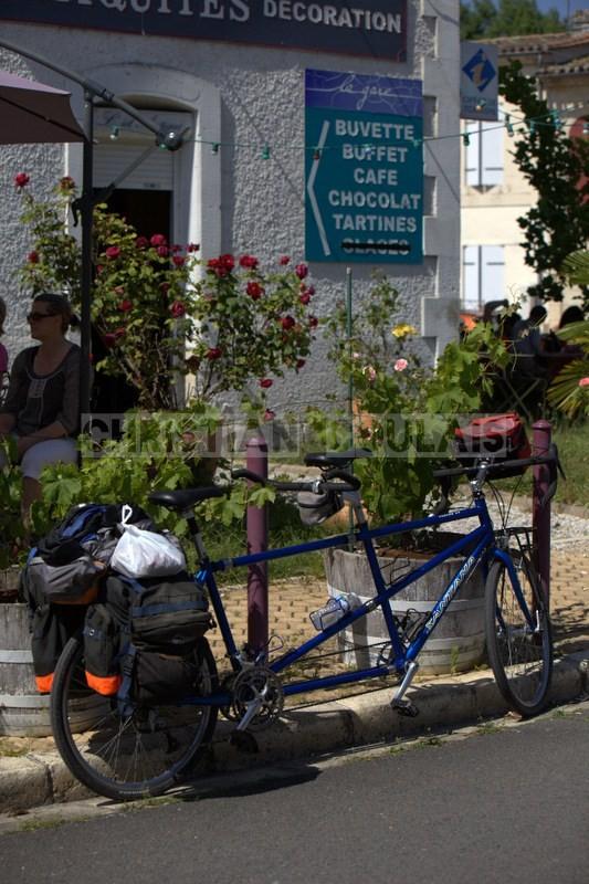"""""""Tandem 2"""" Festival JAZZ360 2014, piste cyclable Roger Lapébie, ancienne gare de Latresne, 08/06/2014"""