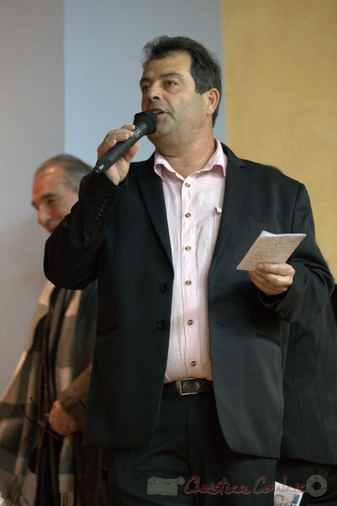 Daniel Barbe, Maire de Blasimon, Président de l'Association des Maires Ruraux de Gironde, 9 mars 2015