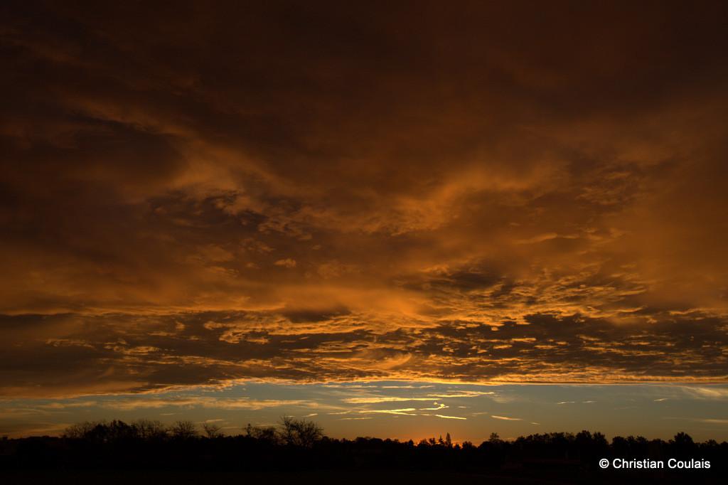 Soleil couchant, lieu-dit le Garde, Cénac