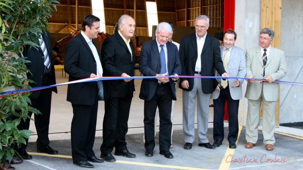 Philippe Madrelle, Président du Conseil général de la Gironde. Inauguration du Centre de tri du SEMOCTOM, Saint-Léon