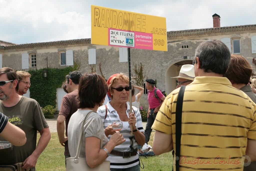 Point de RDV des randonneurs, Château Lestange, Festival JAZZ360, Quinsac. 05/06/2011