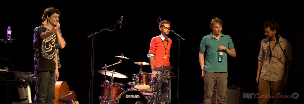 Philippe Gueguen, Curtis Efoua, Mathias Monseigne, Paul Robert; Edmond Bilal Band, Festival JAZZ360 2013, Cénac. 07/06/2013
