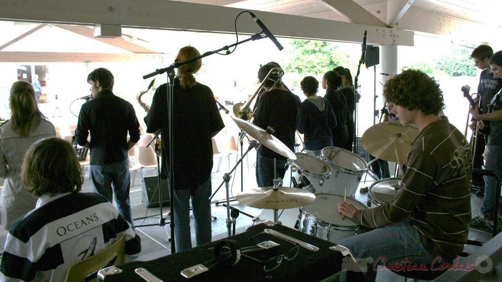 Balances du Big Band du Collège Eléonore de Provence. Festival JAZZ360, groupe scolaire, Cénac, mercredi 12 mai 2010