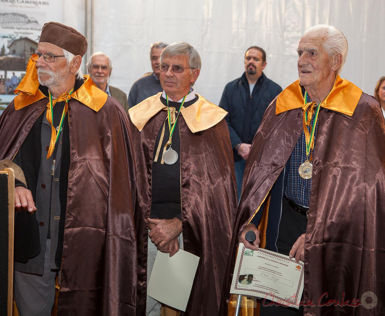 Jean-Marc Rigo, Maurice Roumage, Mario Rigo, Confrérie de la Cagouille Créonnaise