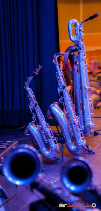 Saxophone alto, saxophone ténor, saxophone baryton de Guillaume Schimidt. Festival JAZZ360 2018, Cénac. 09/06/2018
