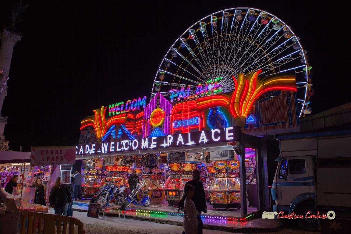 Jeu de néons I. Foire aux plaisirs & attractions foraines, Bordeaux, mercredi 17 octobre 2018
