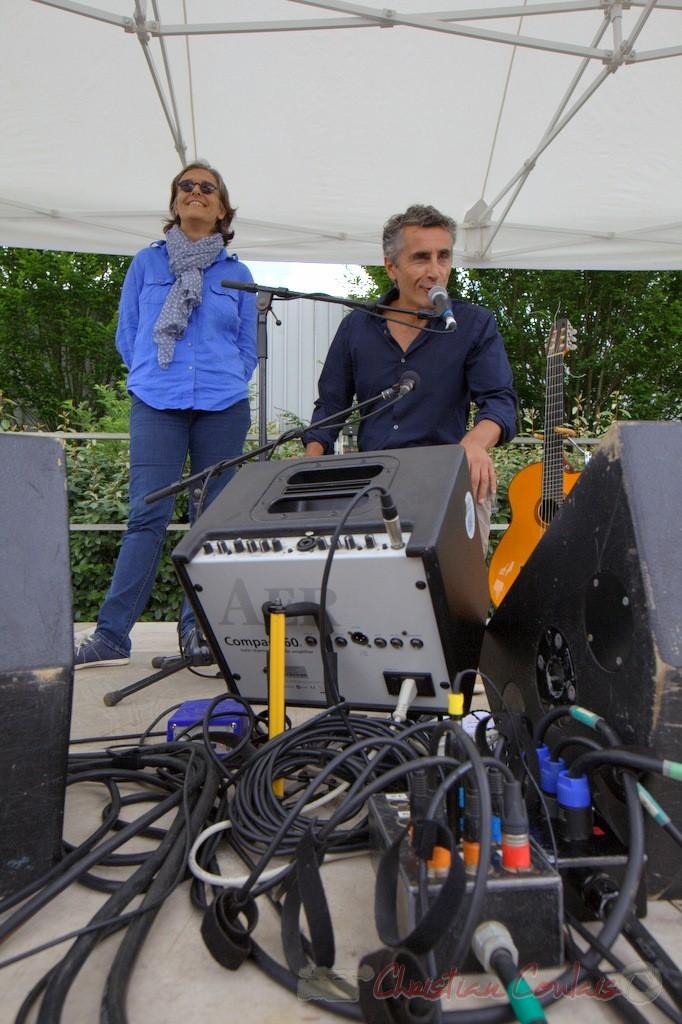 Festival JAZZ360 2015, Sandrine Salier, Vincent Michelet, élus à Latresne, 14/06/2015