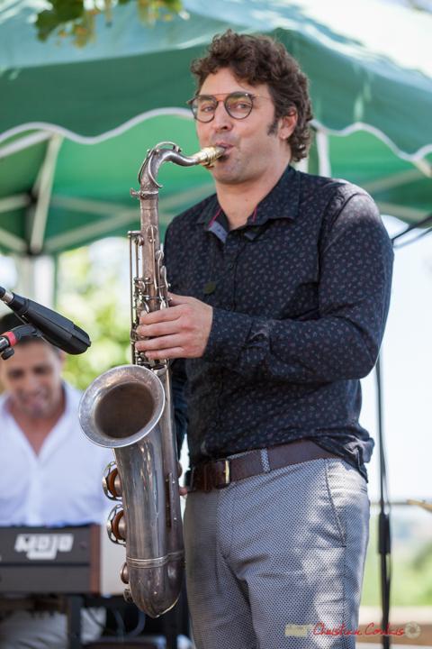 Solo de Jean Vernhères, saxophoniste; Soul Jazz Rebels. Festival JAZZ360, 10 juin 2017, Camblanes-et-Meynac