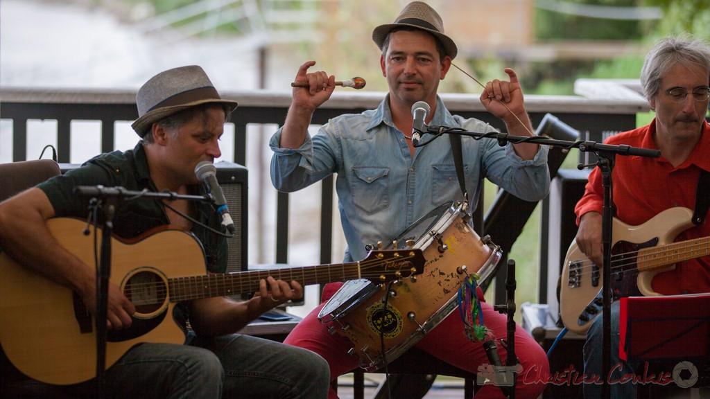 Fabrice Vieira, Fawzi Berger, Eric Dubosq, Peuple étincelle. Festival JAZZ360 2015, Camblanes-et-Meynac