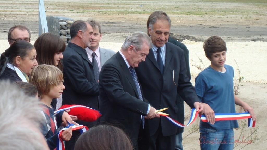 Philippe Madrelle, Président du Conseil général de la Gironde. Inauguration du gymnase du collège de Latresne, 7 mai 2010
