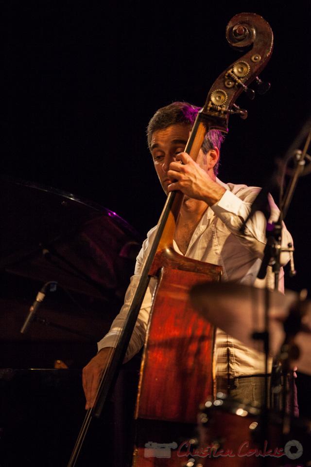 05/11/2016 Trio Marcelle, Laurent Vanhée, contrebassiste. Soirée Cabaret JAZZ360, Cénac