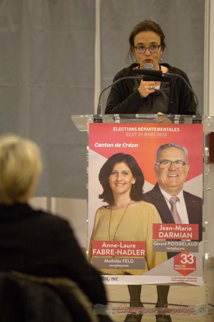 Mathilde Feld, Présidente de la Communauté de Communes du Créonnais